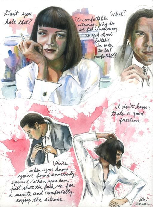 Pulp Fiction Watercolor Print by Bri Bowers