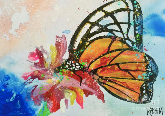 Butterfly Giclee Canvas Print by Kasha Ritter