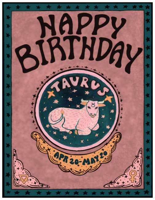 Irene Mudd Zodiac Birthday Cards