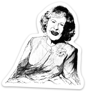 Maya Joy - Mountain Portrait Betty White Sticker