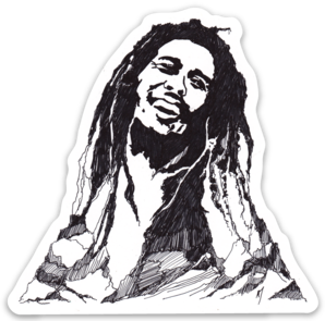 Maya Joy - Mountain Portrait Bob Marley Sticker