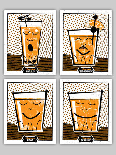Ron Jasin - Bourbon Prints (Set of 4)