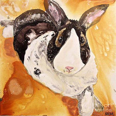 Earl the Bunny - Giclee Canvas Print by Kasha Ritter