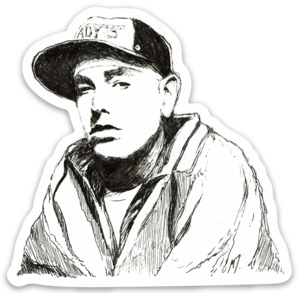 Maya Joy - Mountain Portrait Eminem Sticker
