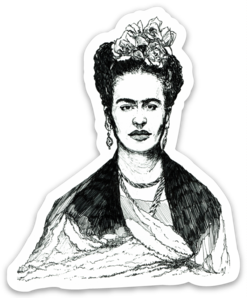 Maya Joy - Mountain Portrait Frida Sticker