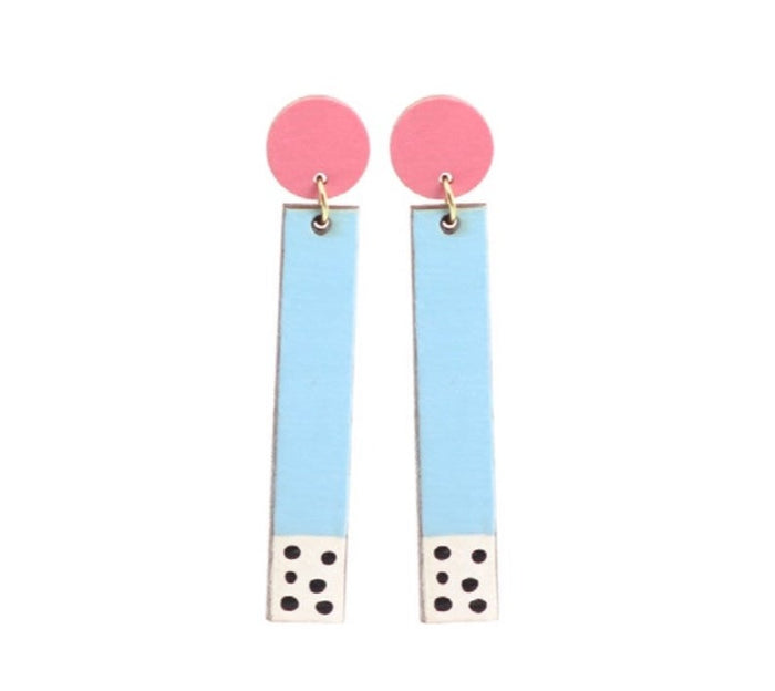 Le Chic Miami - 80's Blue Pastel Dangles