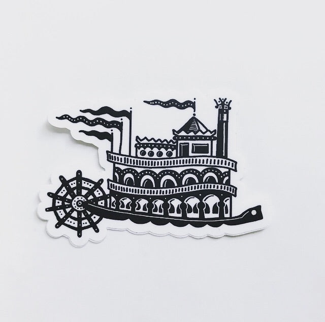 John Furse - Ohio River Steamboat Sticker