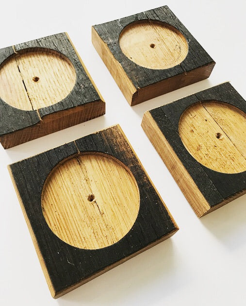 Ashleigh Davidson Bourbon Barrel Coasters