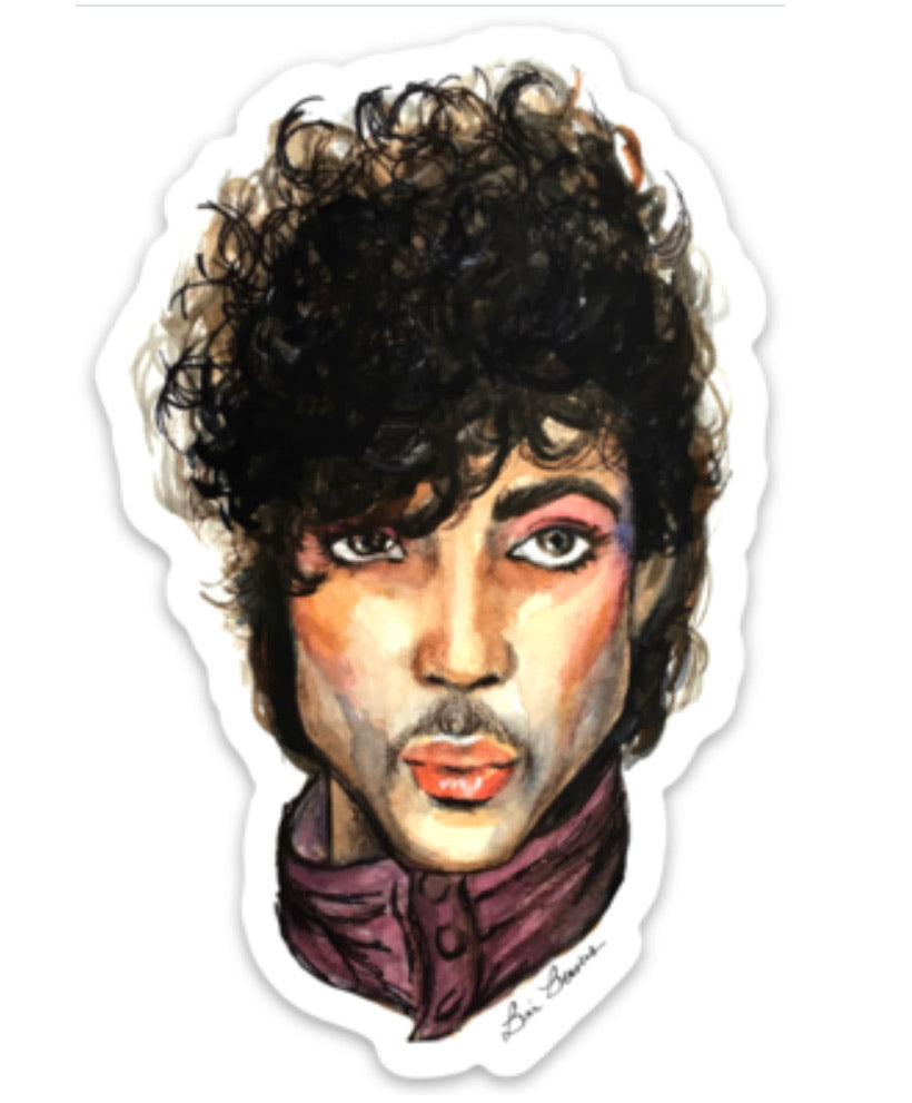 Prince watercolor sticker by Bri Bowers