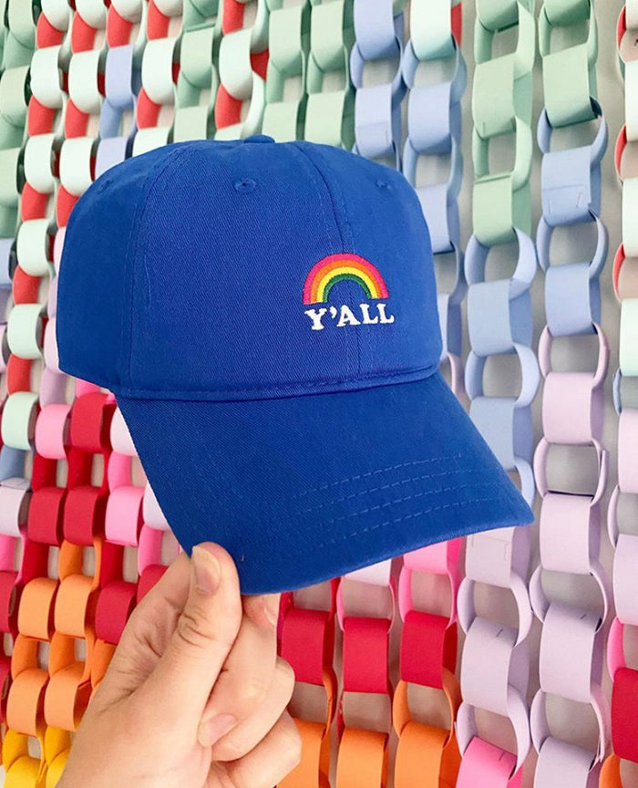 Y'all Rainbow Dad Hat