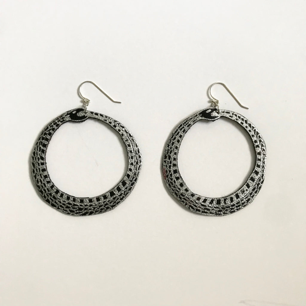 Guided Hand Studio - Ouroboros Earrings $28