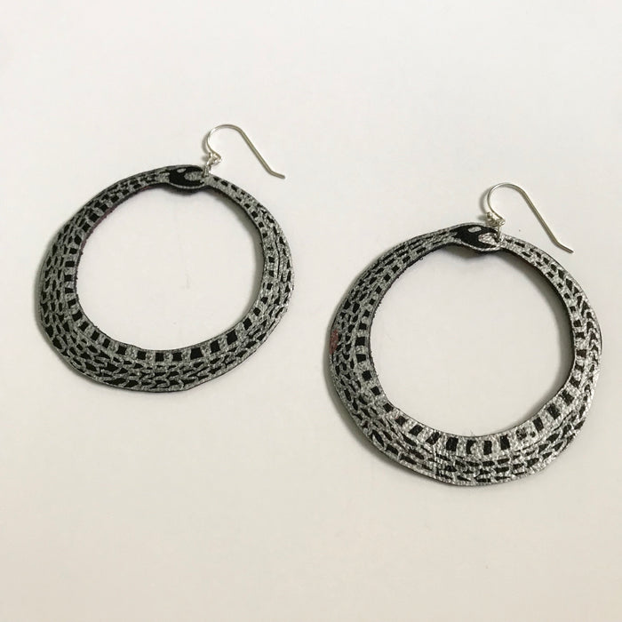 Guided Hand Studio - Little Ouroboros Earrings $20