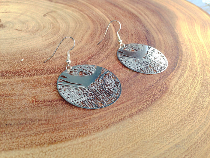 Louisville City Grid Earrings