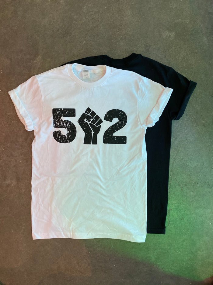 "502 ""Say Their Names"" T-Shirt - Black Logo on White"