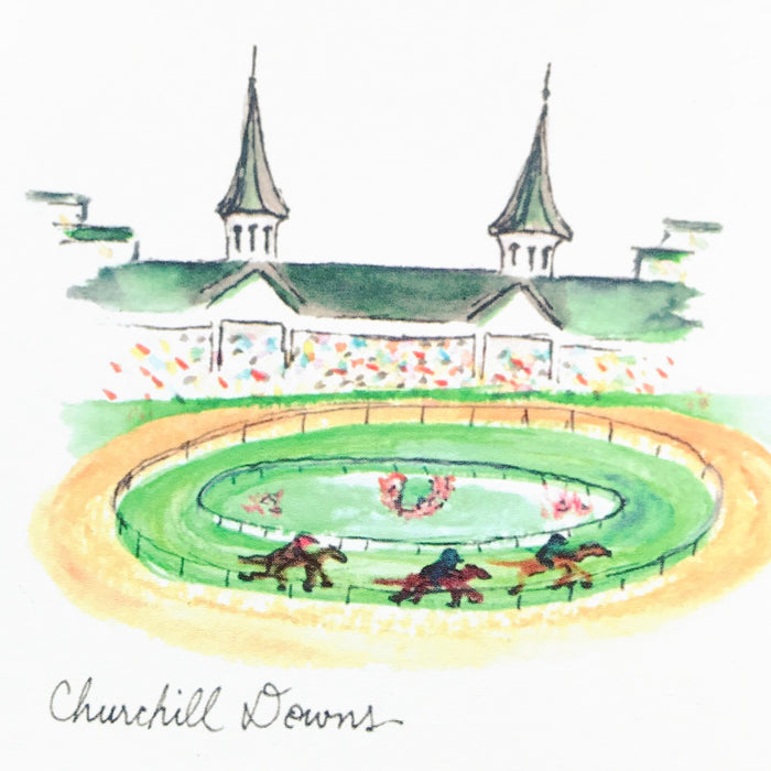 Bri Bowers Cards - Churchhill Downs Watercolor