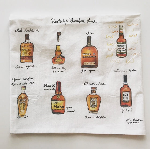 Bri Bowers - Watercolor Kentucky Bourbon Pun Tea Towel