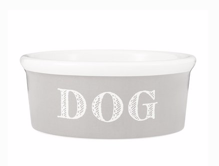 Cape Cod Medium Dog Bowl- Taupe