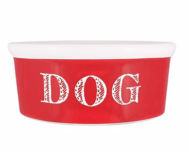 Cape Cod Dog Bowl- Red