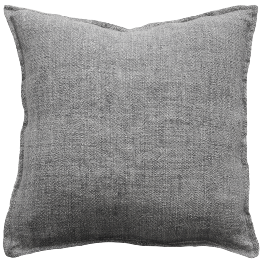 Flaxmill Charcoal Feather 50x50cm Cushion