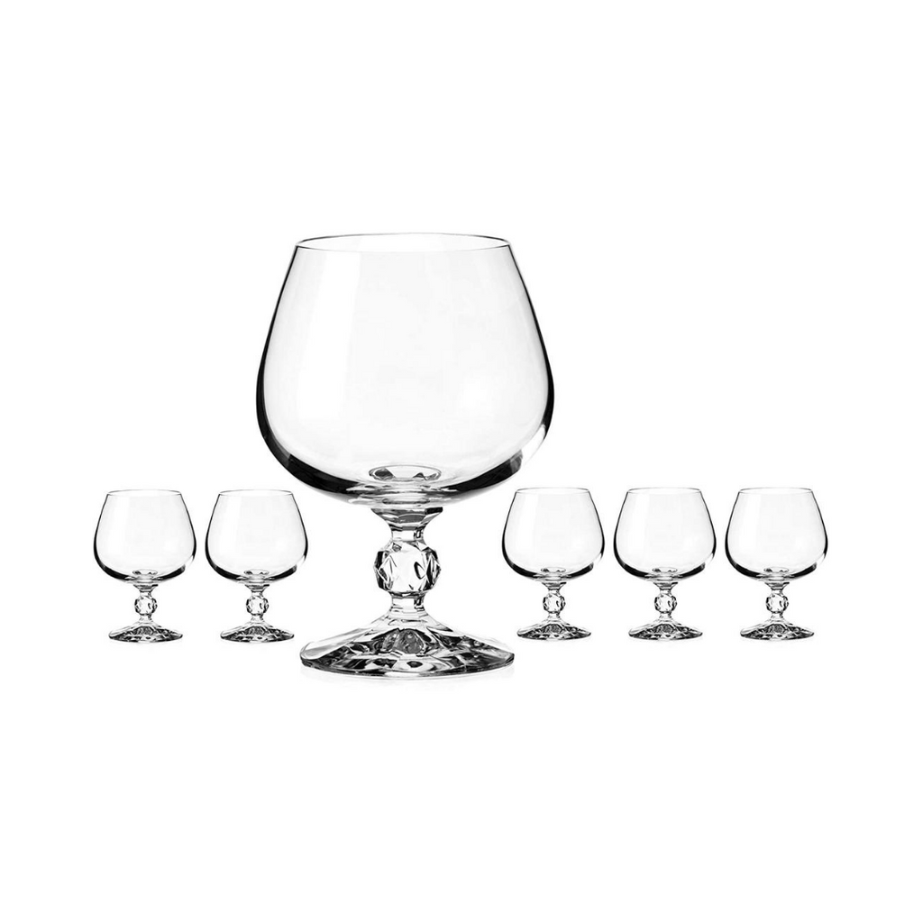 Bohemia Claudia Brandy Glass 250ml Set of 6