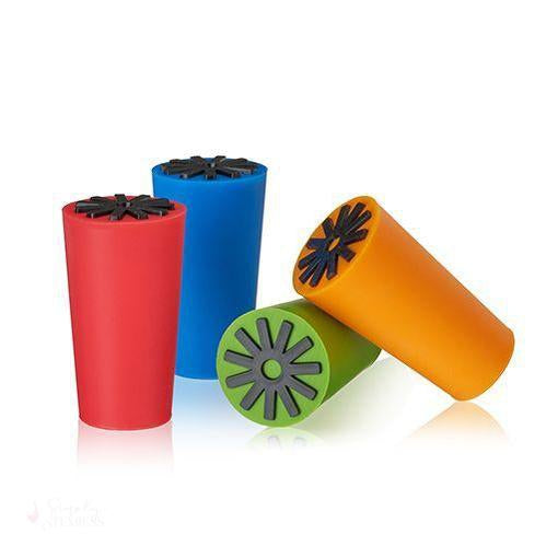 Starburst: Silicone Bottle Stoppers (Set of 4)-Preservation-Simply Stemless