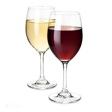 Set of 4 Red And White Wine Glasses-Drinkware-Simply Stemless