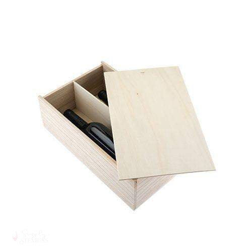 2-Bottle Paulownia Wood Wine Box-Wine Boxes-Simply Stemless