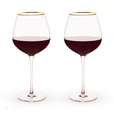 Rose Crystal Red Wine Glass Set-Drinkware-Simply Stemless