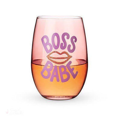 Boss Babe Stemless Wine Glass-Drinkware-Simply Stemless