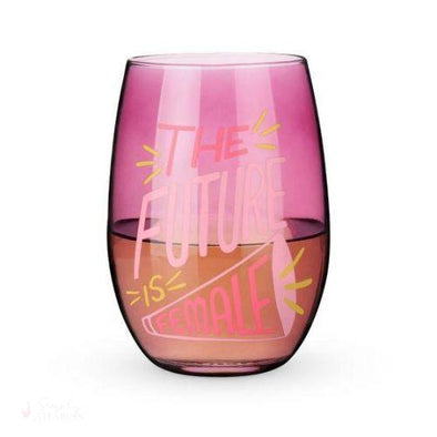 The Future is Female Stemless Wine Glass-Drinkware-Simply Stemless