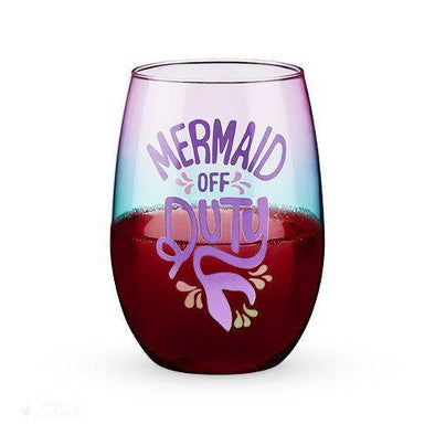 Mermaid Off Duty Stemless Wine Glass-Drinkware-Simply Stemless