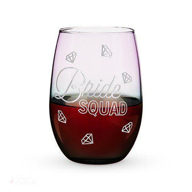 Bride Squad Stemless Wine Glass-Drinkware-Simply Stemless