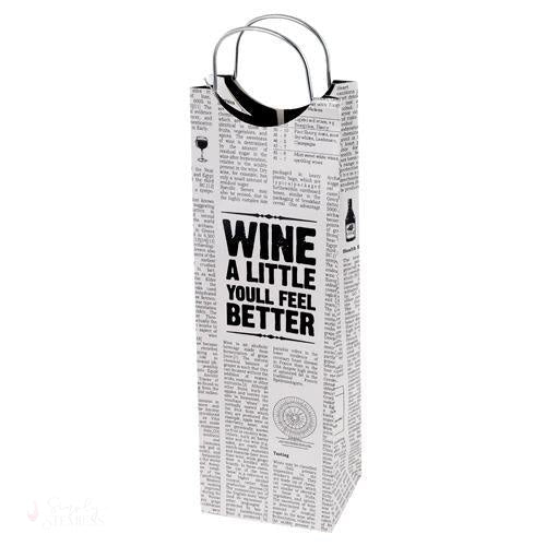 Word Press Wine Bag-Paper Wine Bags-Simply Stemless