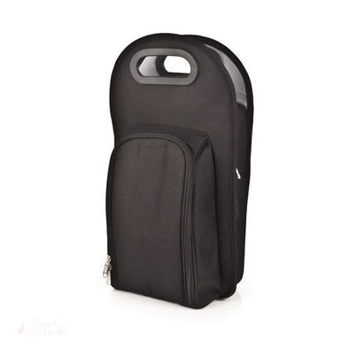 Metro: Onyx 2-Bottle Tote-Insulated Carriers-Simply Stemless