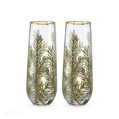 Woodland Stemless Champagne Flute Set-Drinkware-Simply Stemless