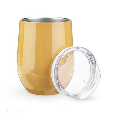 Sip & Go Stemless Wine Tumbler - Marigold-Drinkware-Simply Stemless