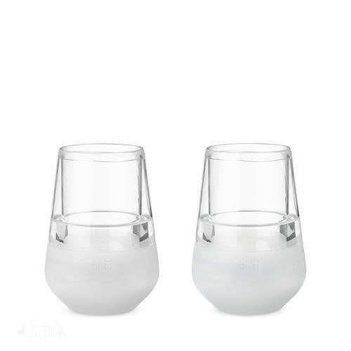 Glass FREEZE Wine Glass Set-Temperature Regulating-Simply Stemless