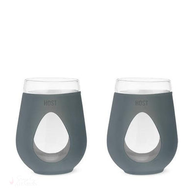 REVIVE Glass Wine Glass (Set of 2) - Grey-Drinkware-Simply Stemless