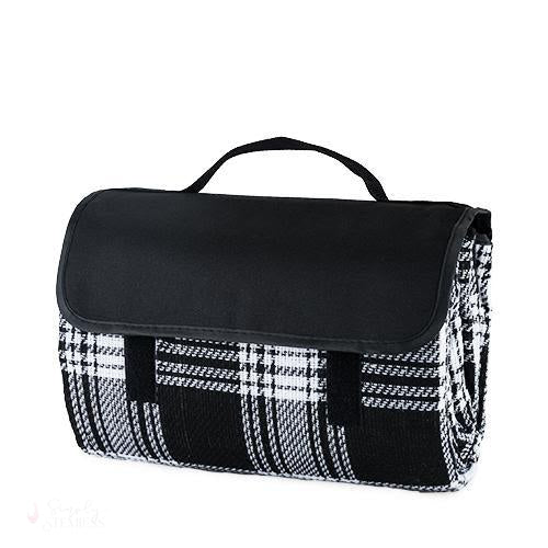 Dine Picnic Blanket in Black Plaid-Outdoors-Simply Stemless