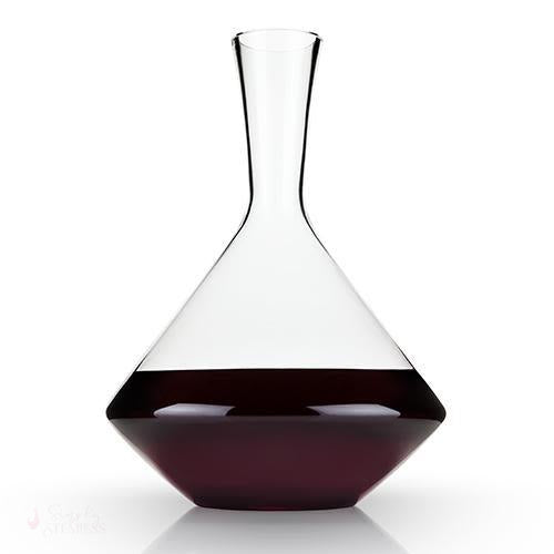 Angled Crystal Wine Decanter-Decanter-Simply Stemless