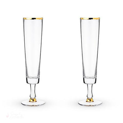 Wedding Champagne Flute Set-Drinkware-Simply Stemless