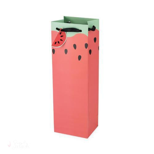 Watermelon Single-Bottle Wine Bag-Paper Wine Bags-Simply Stemless