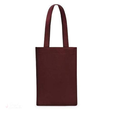 4 Bottle Non Woven Tote In Red-Wine Totes-Simply Stemless