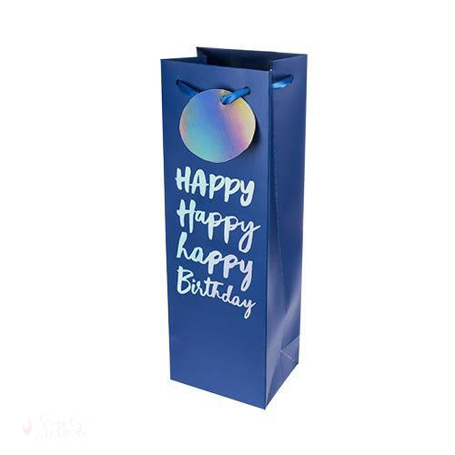 Very Happy Birthday Single-Bottle Wine Bag by Cakewalk-Paper Wine Bags-Simply Stemless
