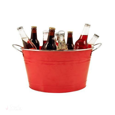 Big Red Galvanized Metal Tub-Temperature Regulating-Simply Stemless