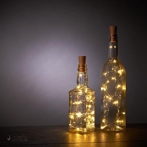 Warm White Bottle String Lights - Set of 2 by True-String Lights-Simply Stemless