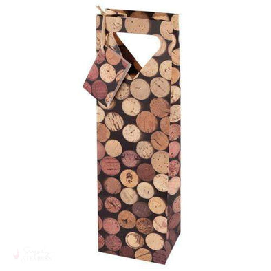 1-Bottle Corks Wine Bag-Paper Wine Bags-Simply Stemless