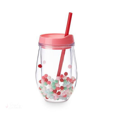 Retro Pom Stemless Wine Tumbler-Drinkware-Simply Stemless