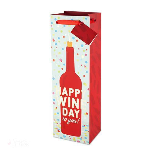 Happy Wine Day To You Wine Bag-Paper Wine Bags-Simply Stemless