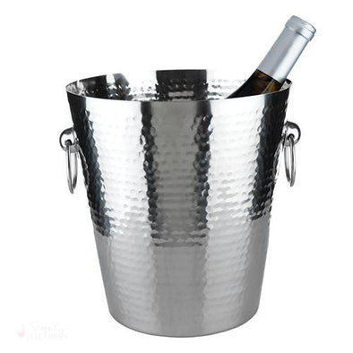 Hammered Ice Bucket-Temperature Regulating-Simply Stemless